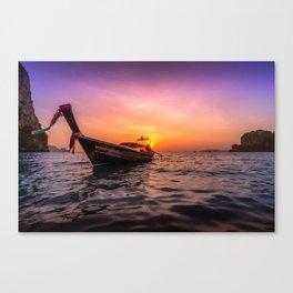 Longtail Sunset Canvas Print