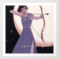 Greek Mythology Artemis Art Print