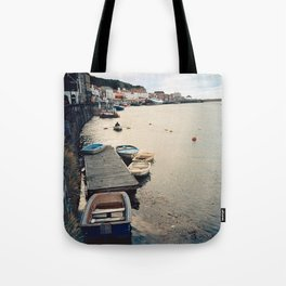 Whitby Row Boats Tote Bag
