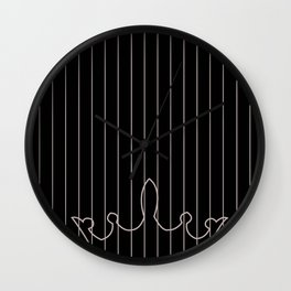 crown and stripes Wall Clock