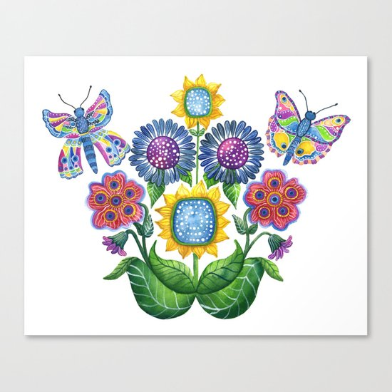 Butterfly Playground Canvas Print