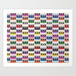 Cassettes In a Row Art Print