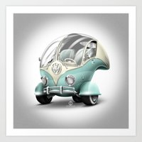 volkswagen Art Prints featuring Volkswagen Bubble by Marcelo Schultz
