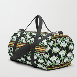Elizabethan Lily Folkloric Stripe Duffle Bag