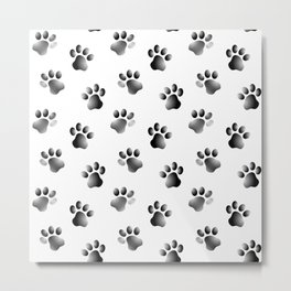 Cat Dog Animal Paw Prints Metal Print