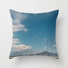 Bonneville Salt Flats Utah USA Throw Pillow