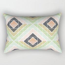 Retro Mod Diamonds Rectangular Pillow