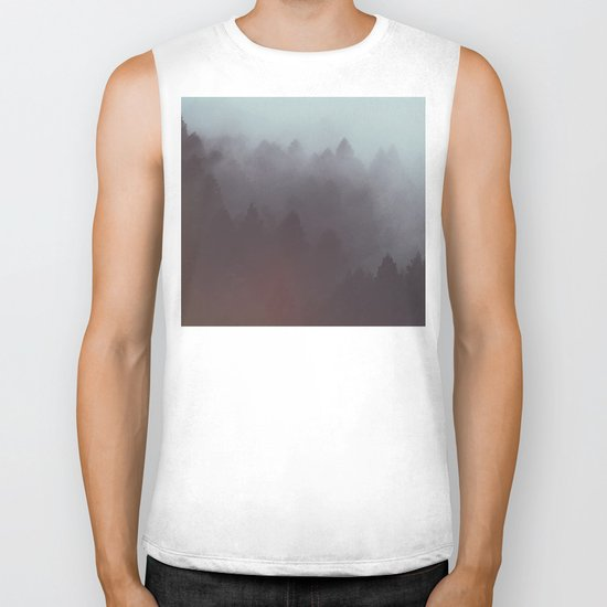 Watercolor Fog Biker Tank