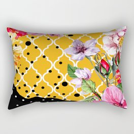 FLORA BRAZILICA | yellow pink black Rectangular Pillow