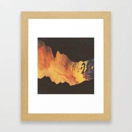 "Glitch art, ""Eruption"" 2014 Framed Art Print"