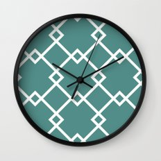 Diamonds (teal) Wall Clock