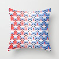america Throw Pillows featuring America by Lyle Hatch