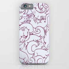 Fox Pattern Screen Print Slim Case iPhone 6s