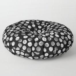 White Watercolor Dots Floor Pillow
