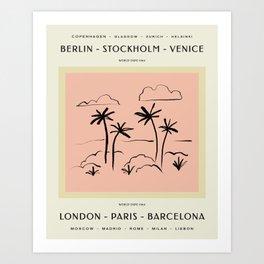 Vintage World Expo Poster Art Print