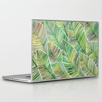 tropical Laptop & iPad Skins featuring Tropical Green by Cat Coquillette