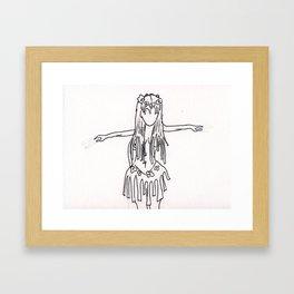 hula hula Framed Art Print