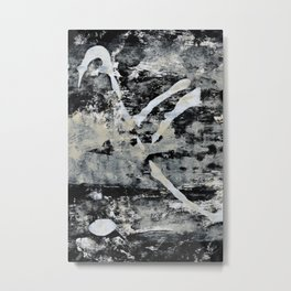 003.2: a vibrant abstract design in black and white by Alyssa Hamilton Art  Metal Print