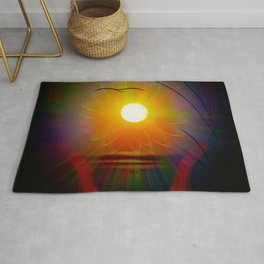 Abstract in perfection - Fertile Imagination sunrise Rug