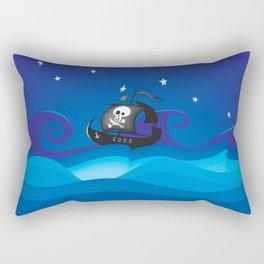 pirate ship at the sea Rectangular Pillow