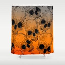 Multitude of Skulls Shower Curtain