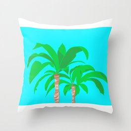Green Palms Throw Pillow