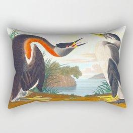 Red-necked Grebe Rectangular Pillow