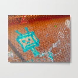 Robot Bridge Metal Print