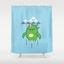 Kawaii Dragon Shower Curtain