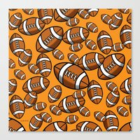 rugby Canvas Prints featuring Rugby by joanfriends