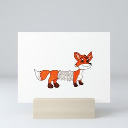 Slinky Fox Mini Art Print