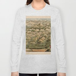 Map Of Afghanistan 1910 Long Sleeve T-shirt