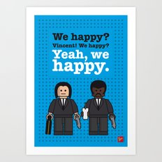 My Pulp Fiction lego dialogue poster Art Print