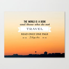 The absolutely amazing sunset over Bournemouth UK (quotes) Canvas Print