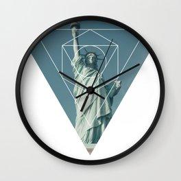 Statue of Liberty - Geometric Photography Wall Clock