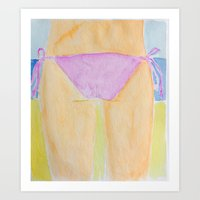 bikini Art Prints featuring Bikini  by Walls Adorned