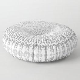 Gray White Mandala Floor Pillow