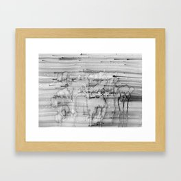 Grey city lights Framed Art Print
