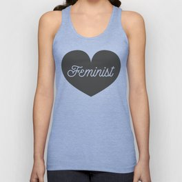 Feminist Heart Unisex Tank Top