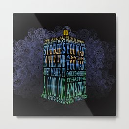Tardis Doctor who Typography iPhone, ipod, ipad, pillow case and tshirt Metal Print