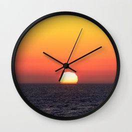 Sunset over Santa Monica Wall Clock