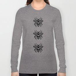 Honey Bee Block Print Long Sleeve T-shirt