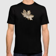 Sepia fall Mens Fitted Tee Black MEDIUM