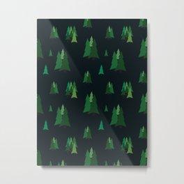 Pine Trees Metal Print