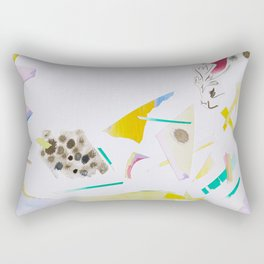 Paper Cutouts Collage  Rectangular Pillow