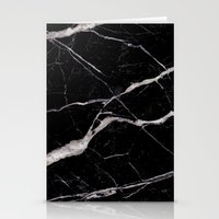 geology Stationery Cards featuring Black Marble by Santo Sagese