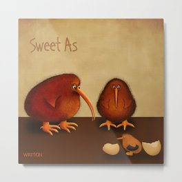 New arrival baby boy - sweet as Metal Print