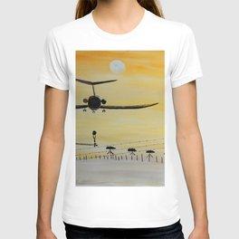 Yellow last flight T-shirt