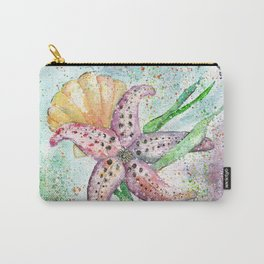 Starfish Watercolor Art Illustration Carry-All Pouch