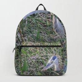 Hello Blue Heron Backpack
